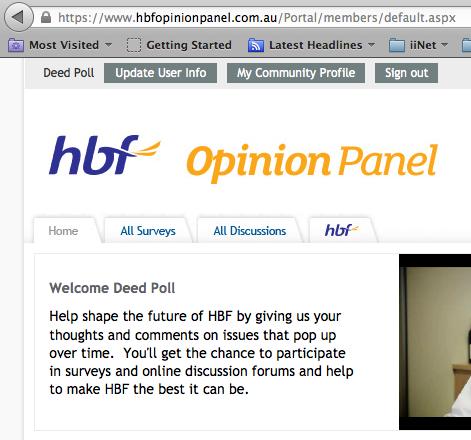 HBF Opinion Panel